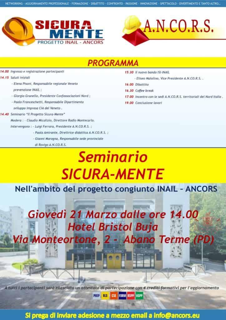 seminario sicura-mente 21 marzo